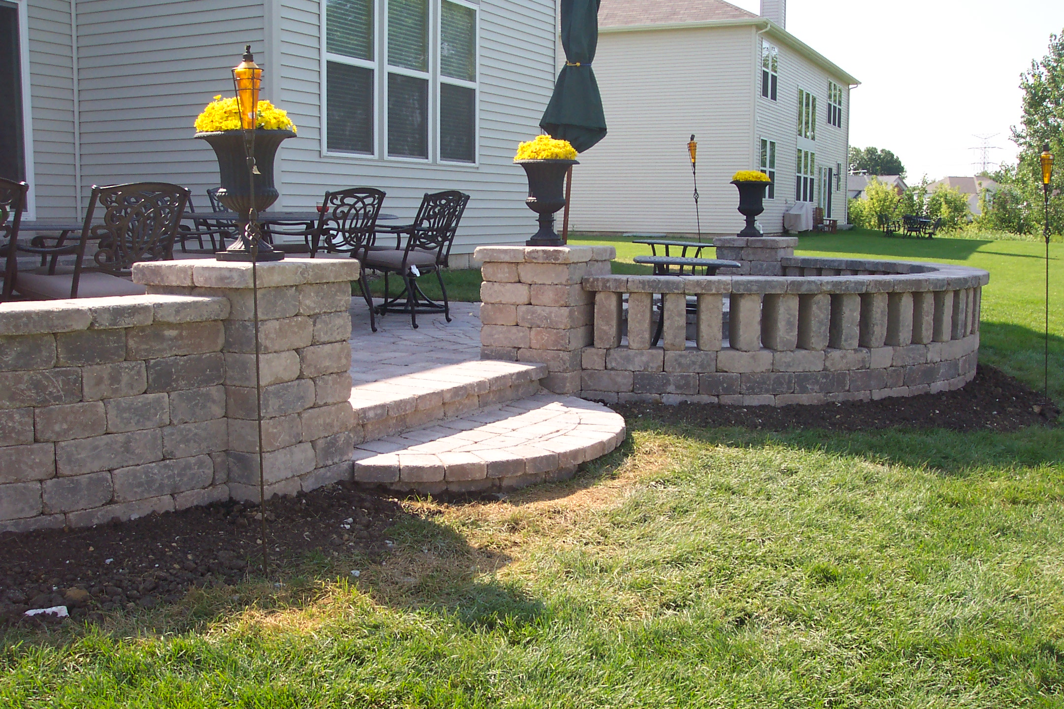 Unilock Patio Designs Unilock Patio With Paver Patterns And Inlays  Landscapes Complete Inc Pictures Ideas